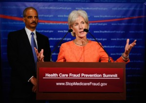 Secretary Sebelius and Attorney General Holder from an earlier conference in 2010